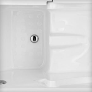 vasca con sportello rivestimento anti freddo in gel coat