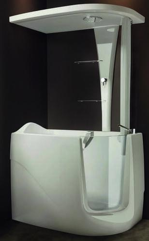 vasca doccia con sportello