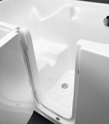vasca con apertura laterale